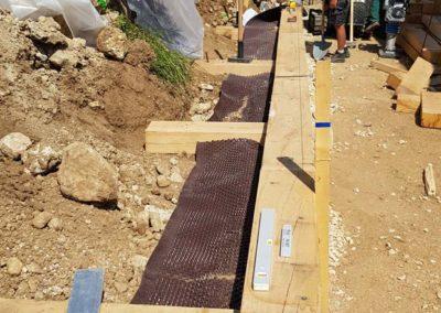 Création du drainage