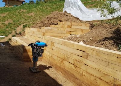 Remblayage et compactage des murs