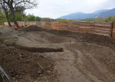 Excavation de l'étang